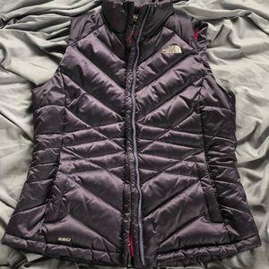 North face 550 purple down vest